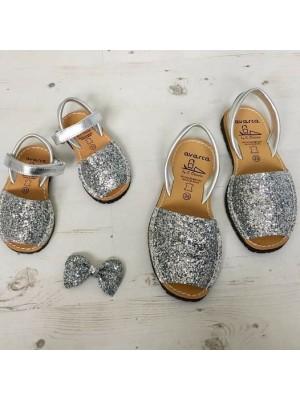 Set mama fiica Avarca Glitter Argintiu