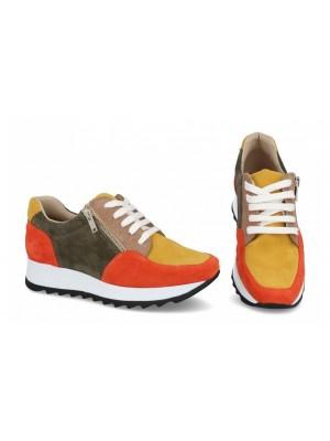Sneakers din piele naturala Color