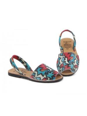 Sandale din piele naturala , Avarca Graffiti