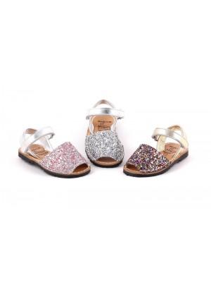 Sandale din piele naturala pentru copii,AVARCA Multicolor