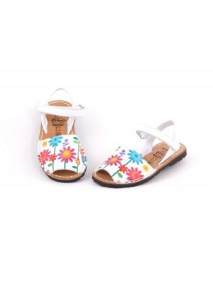 Sandale din piele naturala pentru copii ,AVARCA FLOWER