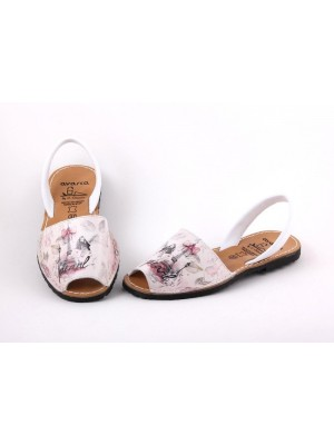 Sandale din piele naturala Avarca Pearl