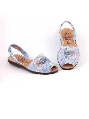 Sandale din piele naturala AVARCA Azul