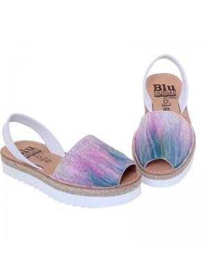 Sandale din piele naturala , Avarca PAINT