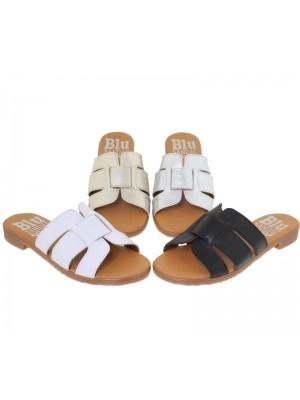 Papuci din piele CEZARA