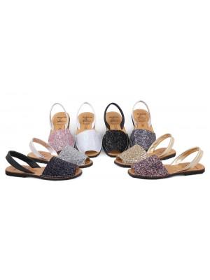 Sandale din piele naturala , AVARCA GLITTER