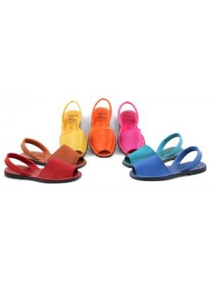 Sandale din piele naturala AVARCA, Clasic Colorate