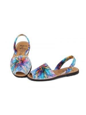 Sandale din piele naturala , Avarca Bleu