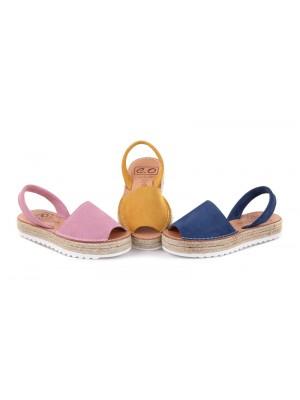 Sandale din piele naturala , Avarca PIEL Roz