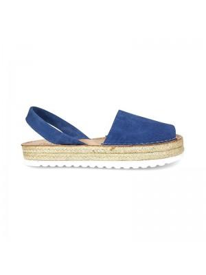 Sandale din piele naturala , Avarca PIEL Albastru